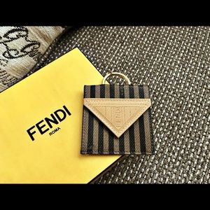 Authentic Fendi Pequin Origami Coin Pouch Keychain